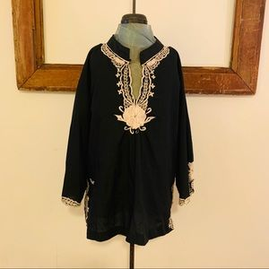 Black tunic blouse